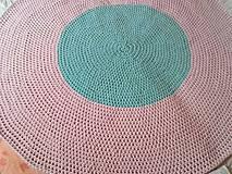Úžitkový textil - Háčkovaný koberec svetla ružová a svetlá mentolová - 10711871_
