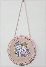 Dekorácie - Dekorácia Unicorn and princess - 10711981_