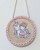 Dekorácie - Dekorácia Unicorn and princess - 10712009_