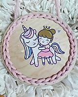 Dekorácie - Dekorácia Unicorn and princess - 10712010_