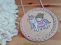 Dekorácie - Dekorácia Unicorn and princess - 10712011_