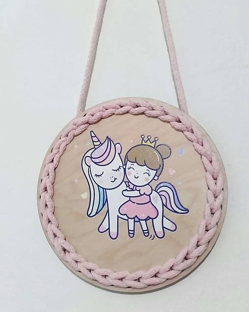 Dekorácia Unicorn and princess