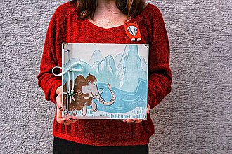 Papiernictvo - Fotoalbum klasický, papierový obal s potlačou ,,Doba ľadová,, - 10712323_