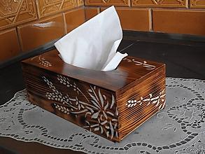 Krabičky - Krabička na kapesníky rustikální - 10714357_