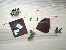 Iné tašky - Ľanové vrecúško na menštruačný kalíšek - hortenzie - 10714891_