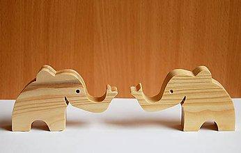 Hračky - Drevená eko hračka - Sloník 2 - 10714009_