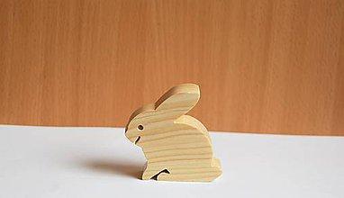 Hračky - Drevená eko hračka - Zajačik 1 - 10714031_