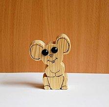 Hračky - Drevená eko hračka - Myška 1 - 10714076_