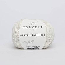 Galantéria - Priadza KATIA Cotton Cashmere (52 biela) - 10712852_