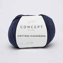 Galantéria - Priadza KATIA Cotton Cashmere (62 tmavá modrá) - 10712863_