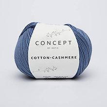 Galantéria - Priadza KATIA Cotton Cashmere (65 džínsová) - 10712865_