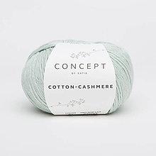 Galantéria - Priadza KATIA Cotton Cashmere (67 svetlá pastelovo zelená) - 10712871_