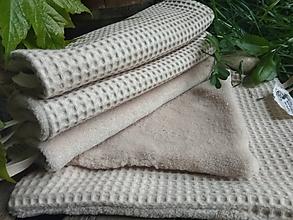 Úžitkový textil - RUČNÍK VAFLE + MIKROPLYŠ - 10712516_