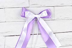 Mašľa stredná fialovo-biela