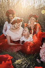 """Ozdoby do vlasov - Svadobná parta """"v krajine makov"""" - 10712400_"""