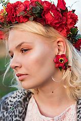 Náušnice - Kvetinové klipsne náušnice