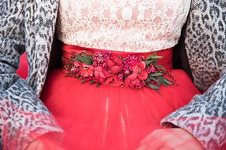 "Opasky - Kvetinový opasok ""v krajine makov"" - menší - 10712511_"