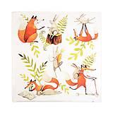 Textil - Prikrývka Líška Plíška a zajac Ervín - 10715077_