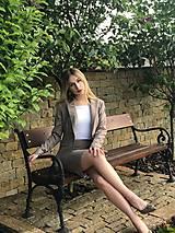 Sukne - Biznis sukňa piesková - 10714587_