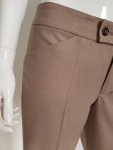 Nohavice - Biznis nohavice pieskové - 10714642_