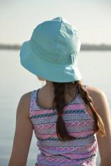 Čiapky - Ľanový klobúk dámsky-mentolový - 10714941_