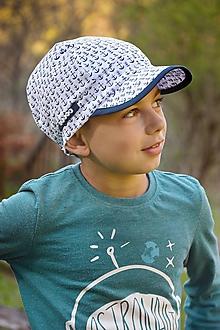 Detské čiapky - Letná šiltovka s menom kotvičky - 10712593_
