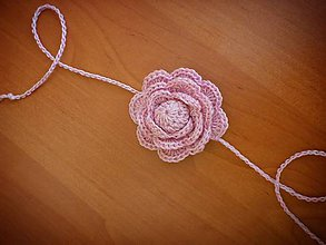 Detské doplnky - Čelenka ružička - 10713660_
