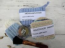 Úžitkový textil - Námornícka háčkovaná sada odličovacích tampónov - 10712801_