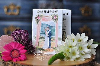 Papiernictvo - Rozkladateľné svadobné oznámenie LEN TY A JA - 10714908_