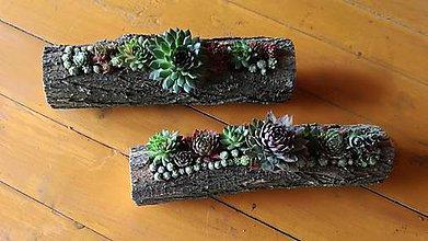 Nádoby - Drevený kvetináč - 10712001_