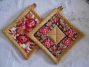 Úžitkový textil - Kvetinové chňapky - 10713767_