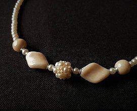 Náhrdelníky - Jemný náhrdelník IVORY - 10713491_