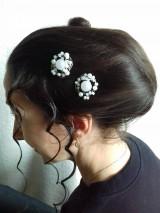 Ozdoby do vlasov - Ružičky - 10714038_