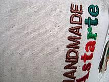 Kabelky - Ľanová kabelka s makom 2 - 10713876_