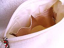 Kabelky - Ľanová kabelka s makom 2 - 10713877_