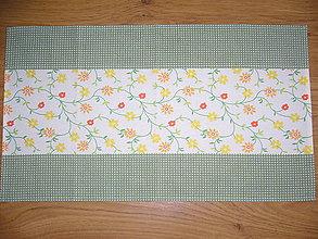Úžitkový textil - Obrus kvietky 67x39 - 10713579_