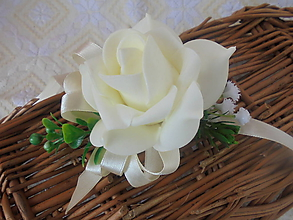 Náramky - Svadobný náramok-béžová  ruža - 10712697_