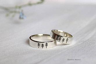 Prstene - obrúčky stromčeky - 10713803_