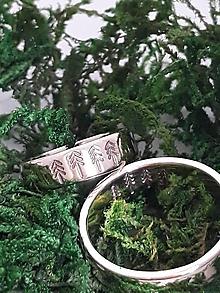 Prstene - obrúčky stromčeky (Zlato) - 10713810_