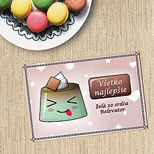 Papiernictvo - Puding pohľadnica - bláznivý (čokoládový) - 10714730_