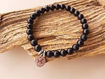 Šperky - Náramok ónyx so znamením - 10716710_