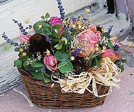 Dekorácie - květinový košík - 10717894_