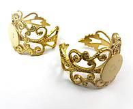 Filigranovy zaklad na prsten (Zlatá)