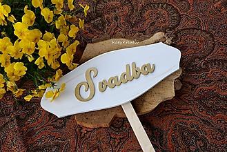 Tabuľky - 50cm tabuľa SVADBA - 10715983_