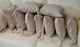 Textil - Vankúšikové mantinely béžové - 10716748_
