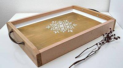 Nádoby - Masívny drevený podnos - 10717127_