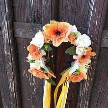 Ozdoby do vlasov - Svadobná parta Štavnatý pomaranč - 10715551_