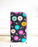 Na mobil - Obal na mobil-veľký-minimal kvety - 10716533_