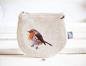 Peňaženky - Peňaženky - režné natur (Vtáčik) - 10716864_