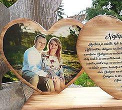Tabuľky - Poďakovanie rodičom dve srdiečka - text a fotka - 10716306_